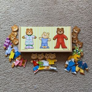Melissa & Doug® Wooden Bear Family Dress-Up Puzzle